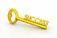 Χρυσό κλειδί για την επιτυχία Στοκ Εικόνες