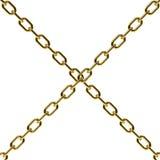 χρυσό λευκό αλυσίδων αν&alph Στοκ Φωτογραφία