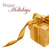 χρυσό λευκό δώρων κιβωτίων στοκ φωτογραφία με δικαίωμα ελεύθερης χρήσης