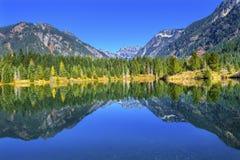Χρυσό μέγιστο Snoqualme αντανάκλασης λιμνών πέρασμα Ουάσιγκτον ΑΜ Chikamin Στοκ εικόνα με δικαίωμα ελεύθερης χρήσης