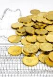 χρυσό μέρος έννοιας νομισμάτων Στοκ φωτογραφίες με δικαίωμα ελεύθερης χρήσης
