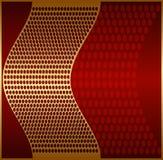 χρυσό μέταλλο πλέγματος Στοκ Εικόνες