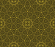 Χρυσό & μαύρο σχέδιο υποβάθρου διακοσμήσεων Arabesque Διανυσματική απεικόνιση
