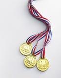 χρυσό μετάλλιο Στοκ Φωτογραφία
