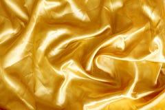 Χρυσό μετάξι υφάσματος Στοκ φωτογραφίες με δικαίωμα ελεύθερης χρήσης