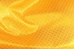 Χρυσό μετάξι υφάσματος Στοκ φωτογραφία με δικαίωμα ελεύθερης χρήσης