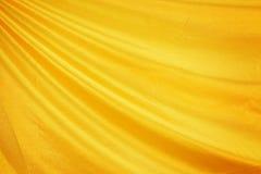 Χρυσό μετάξι υφάσματος Στοκ Φωτογραφία