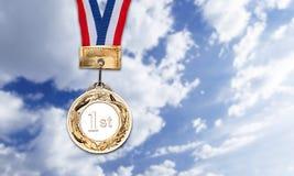 Χρυσό μετάλλιο Στοκ Εικόνες