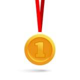 Χρυσό μετάλλιο Στοκ εικόνες με δικαίωμα ελεύθερης χρήσης