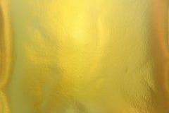 Χρυσό μεταλλικό υπόβαθρο σύστασης εγγράφου Στοκ Φωτογραφίες