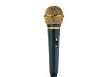χρυσό μικρόφωνο Στοκ φωτογραφία με δικαίωμα ελεύθερης χρήσης