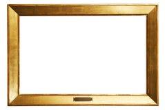 χρυσό μονοπάτι απλό W πλαισί&om Στοκ Φωτογραφία