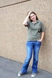 χρυσό μοντέλο μόδας φορεμ Στοκ φωτογραφίες με δικαίωμα ελεύθερης χρήσης