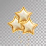 Χρυσό μπαλόνι αστεριών Στοκ Εικόνα