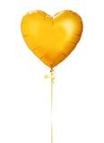 Χρυσό μπαλόνι καρδιών στοκ εικόνα