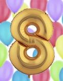 Χρυσό μπαλόνι φύλλων αλουμινίου Στοκ Εικόνα