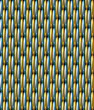 Χρυσό μπλε υπόβαθρο σχεδίων πλέγματος διανυσματικό άνευ ραφής Στοκ φωτογραφίες με δικαίωμα ελεύθερης χρήσης