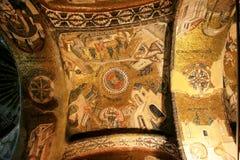 χρυσό μωσαϊκό της Κωνσταντινούπολης εκκλησιών chora Στοκ εικόνες με δικαίωμα ελεύθερης χρήσης
