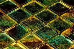 Χρυσό μωσαϊκό φύλλων Στοκ εικόνα με δικαίωμα ελεύθερης χρήσης