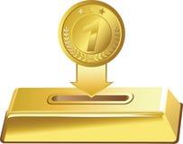 Χρυσό νόμισμα Στοκ φωτογραφία με δικαίωμα ελεύθερης χρήσης