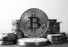 Χρυσό νόμισμα Bitcoin Έννοια Cryptocurrency Εικονική πλάτη νομίσματος Στοκ φωτογραφία με δικαίωμα ελεύθερης χρήσης