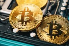Χρυσό νόμισμα bitcoin Cryptocurrency εννοιολογική εικόνα για crypto το νόμισμα Στοκ φωτογραφία με δικαίωμα ελεύθερης χρήσης