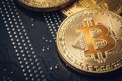 Χρυσό νόμισμα bitcoin Cryptocurrency εννοιολογική εικόνα για crypto το νόμισμα Στοκ εικόνα με δικαίωμα ελεύθερης χρήσης