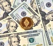 Χρυσό νόμισμα Cryptocurrency Ethereum Στοκ εικόνες με δικαίωμα ελεύθερης χρήσης