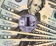 Χρυσό νόμισμα cryptocurrency Litecoin Στοκ φωτογραφία με δικαίωμα ελεύθερης χρήσης