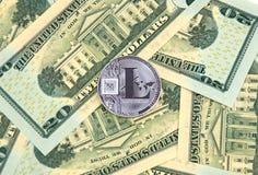 Χρυσό νόμισμα cryptocurrency Litecoin Στοκ εικόνα με δικαίωμα ελεύθερης χρήσης