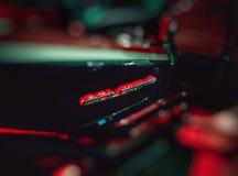Χρυσό λογότυπο μοτοσικλετών συνήθειας φτερών gl-1800 της Honda Στοκ Εικόνες