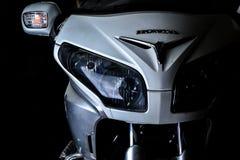 Χρυσό λογότυπο μοτοσικλετών συνήθειας φτερών gl-1800 της Honda Στοκ Εικόνα