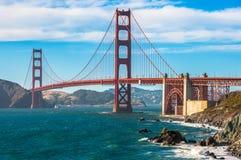 Χρυσό ορόσημο γεφυρών πυλών του Σαν Φρανσίσκο, Καλιφόρνια, ΗΠΑ στοκ φωτογραφία με δικαίωμα ελεύθερης χρήσης