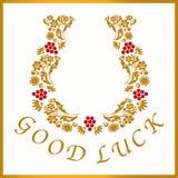 Χρυσό πέταλο για την καλή τύχη, διανυσματική απεικόνιση Απεικόνιση αποθεμάτων