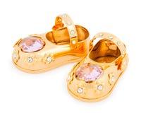χρυσό παπούτσι φωτογραφιώ& Στοκ φωτογραφία με δικαίωμα ελεύθερης χρήσης