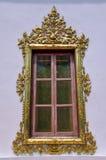 χρυσό παράθυρο στοκ εικόνα