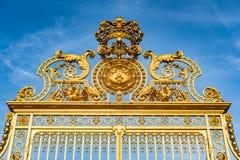 Χρυσό παλάτι πυλών των Βερσαλλιών Στοκ εικόνες με δικαίωμα ελεύθερης χρήσης