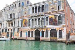 Χρυσό παλάτι στο μεγάλο κανάλι Βενετία, Ιταλία Στοκ Φωτογραφία
