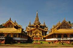 Χρυσό παλάτι Kambawzathardi, παλάτι, Bago, Myanmar Στοκ Φωτογραφίες
