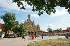 Χρυσό παλάτι, Wat Chantaram, Ταϊλάνδη Στοκ εικόνα με δικαίωμα ελεύθερης χρήσης