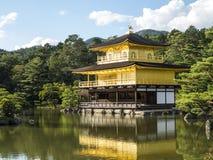 Χρυσό περίπτερο Kinkakuji Στοκ Φωτογραφίες