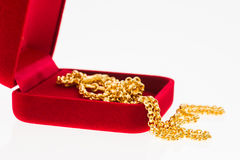 Χρυσό περιδέραιο Στοκ εικόνες με δικαίωμα ελεύθερης χρήσης