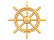 χρυσό πηδάλιο Στοκ φωτογραφία με δικαίωμα ελεύθερης χρήσης