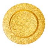 χρυσό πιάτο στοκ φωτογραφία