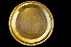 Χρυσό πιάτο Στοκ φωτογραφία με δικαίωμα ελεύθερης χρήσης