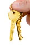 χρυσό πλήκτρο δάχτυλων στοκ φωτογραφία με δικαίωμα ελεύθερης χρήσης