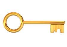 Χρυσό πλήκτρο ελεύθερη απεικόνιση δικαιώματος