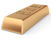 χρυσό πλίνθωμα Στοκ φωτογραφία με δικαίωμα ελεύθερης χρήσης