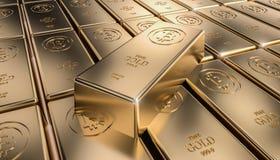 Χρυσό πλίνθωμα bitcoin Στοκ Εικόνες