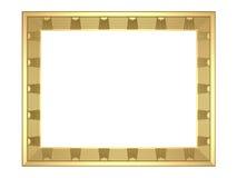 Χρυσό πλαίσιο - τρισδιάστατη απόδοση Στοκ φωτογραφία με δικαίωμα ελεύθερης χρήσης